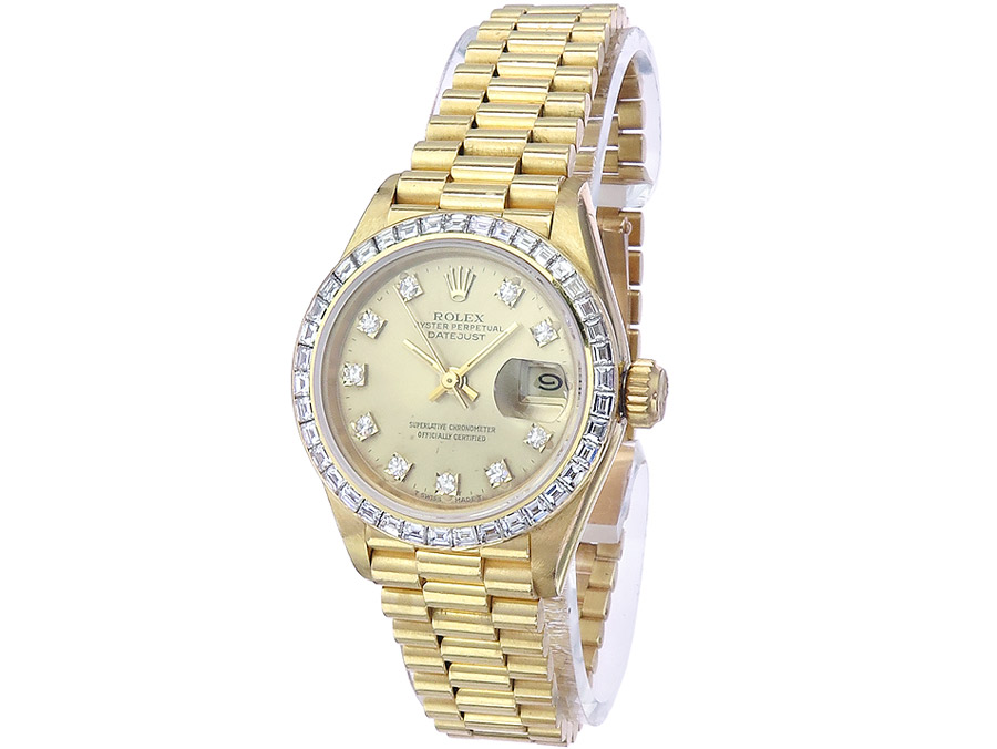 Rolex Oyster Perpetual Lady Datejust Gold Diamanten