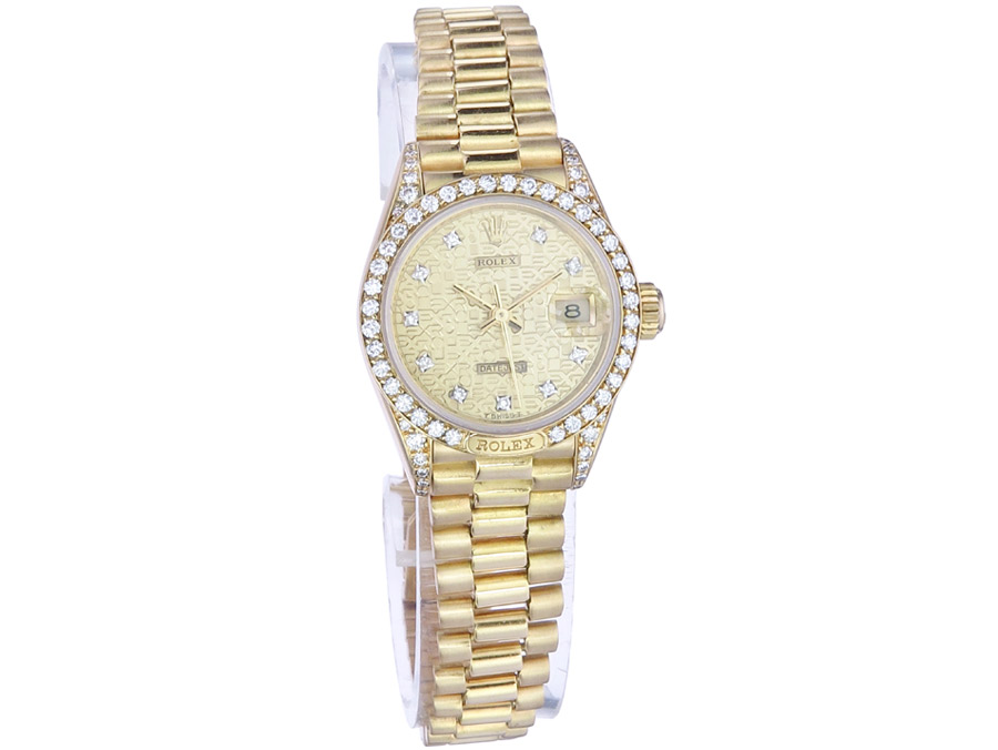 Rolex Lady Datejust Gold Brillanten