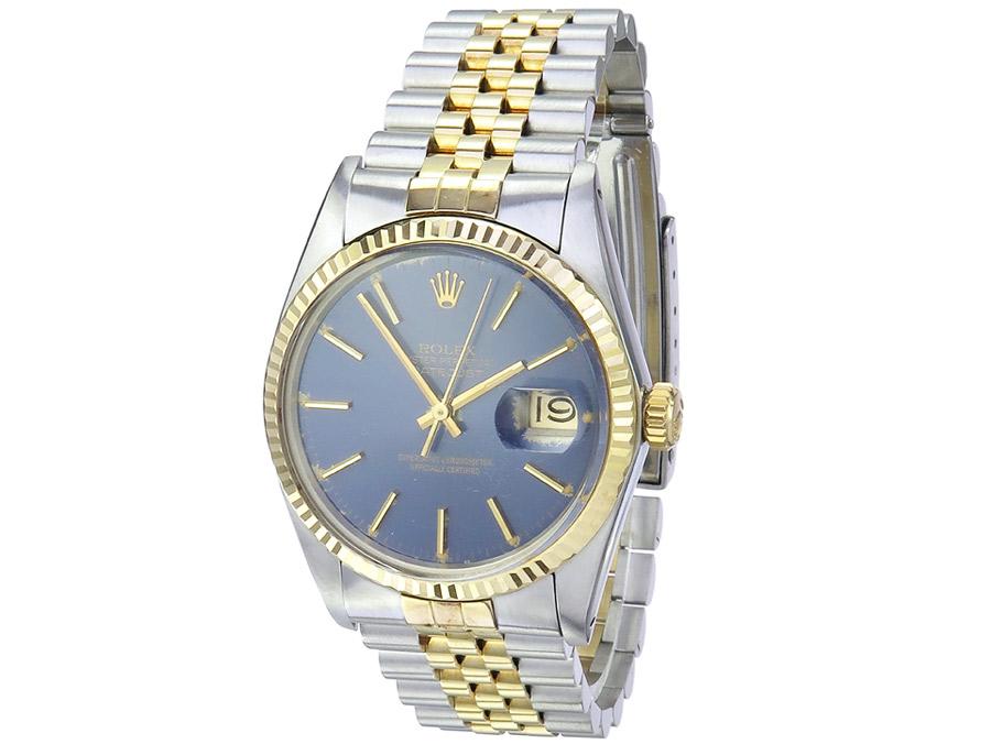 Rolex Oyster Perpetual Datejust Stahl Gold Herren Box Papiere