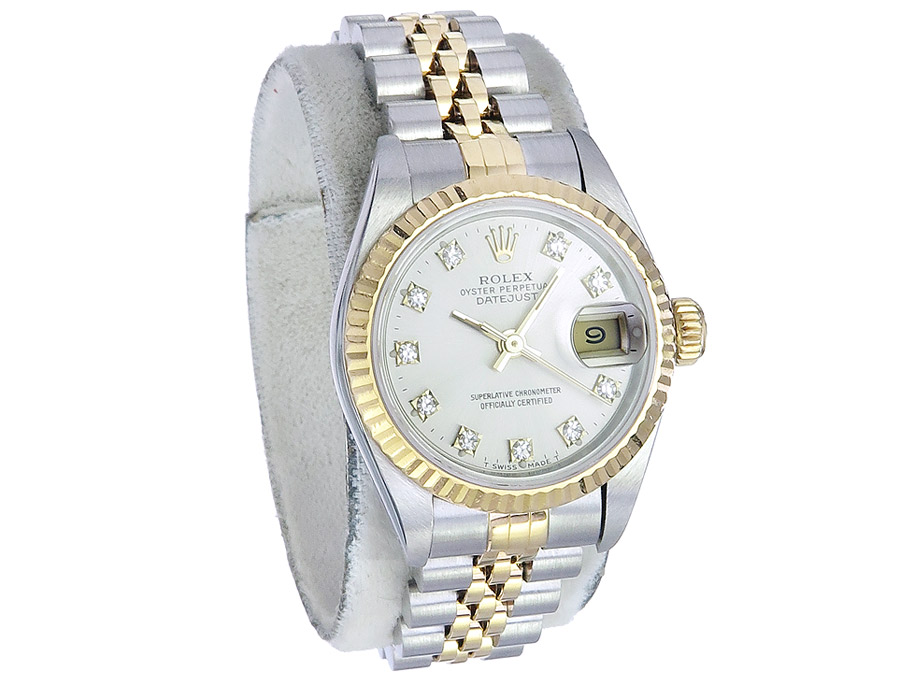 Rolex Lady Datejust Steel Gold Diamond Dial