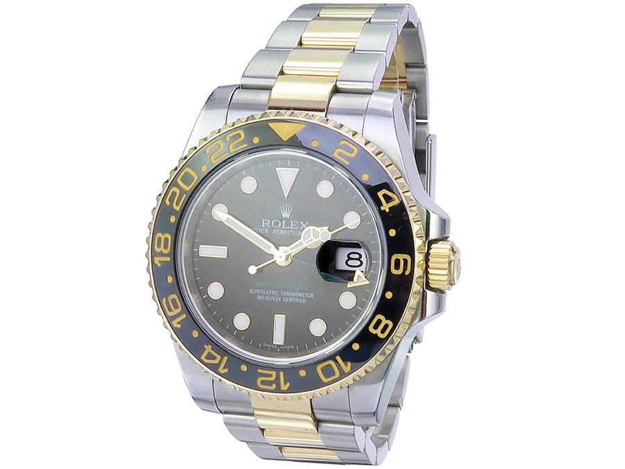 Rolex GMT Master II Stahl Gold Box Papiere 2008