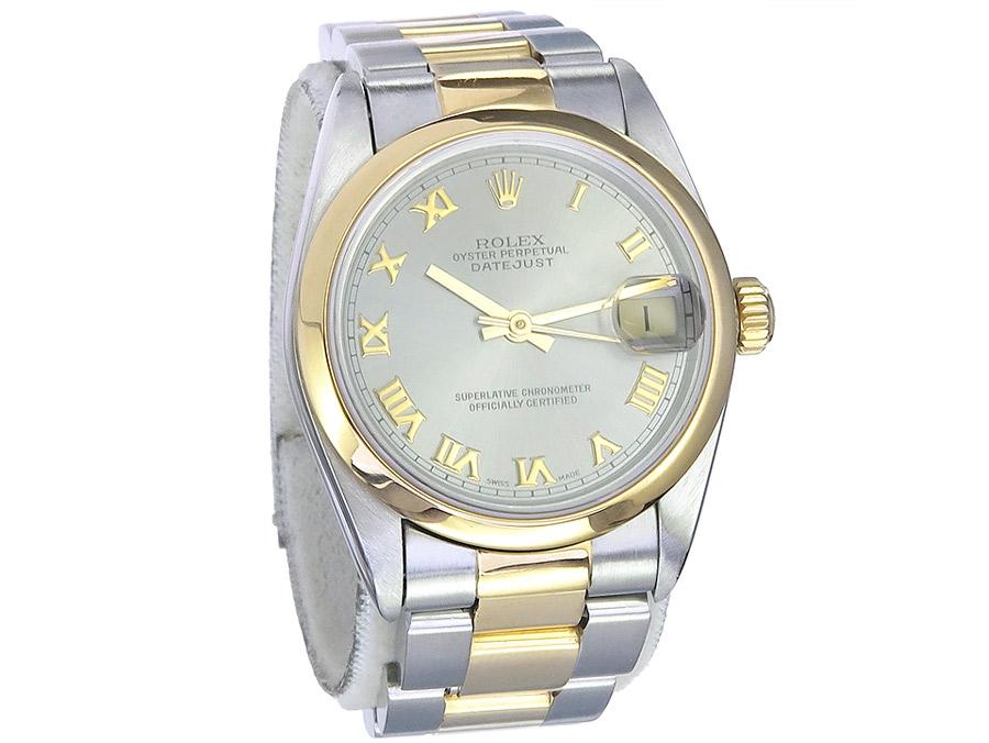 Rolex Oyster Perpetual Datejust Medium Stahl Gold Box Papiere