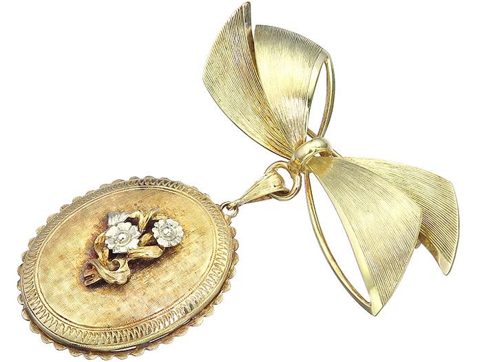 Brosche Schleife 585er Gelbgold
