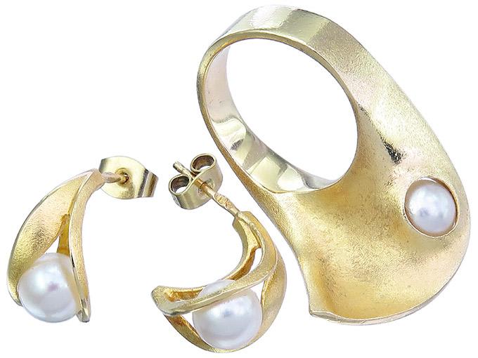 Lapponia Schmuckset Ohrstecker und Ring