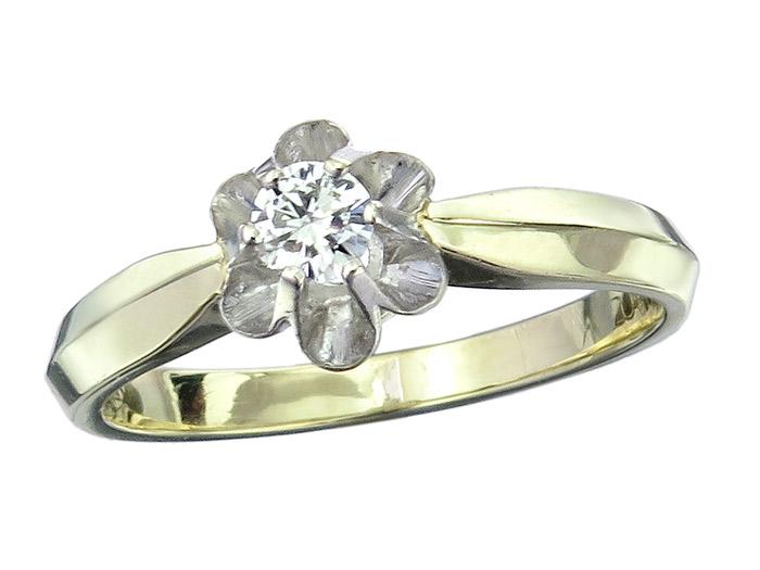 Solitär Ring Brillant ca. 0,15 Carat 585er Gold