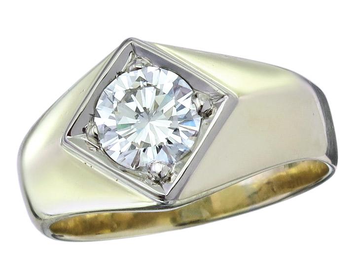 Solitär Ring Brillant 1,01 Carat 585er Gelbgold HRD Zertifikat