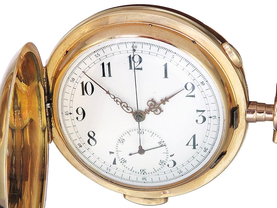 """Taschenuhr """"Minutenrepetion und Chronograph"""" Gold"""