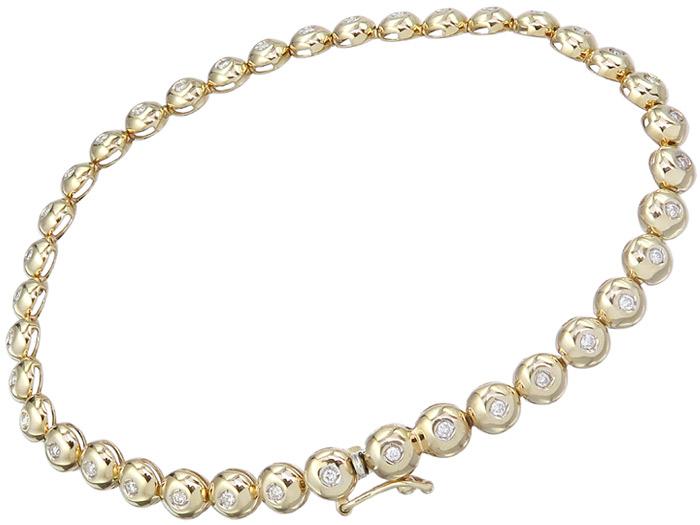 Tennis Armband Brillanten 585er Gelbgold