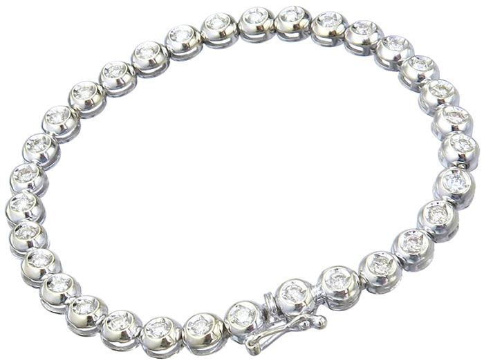 Tennis Armband Brillanten 585er Weißgold