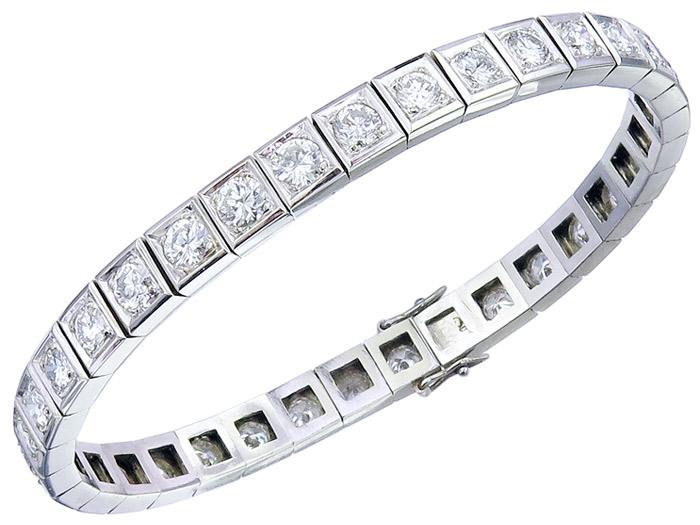 Tennis Armband Brillanten 750er Weißgold Zertifikat