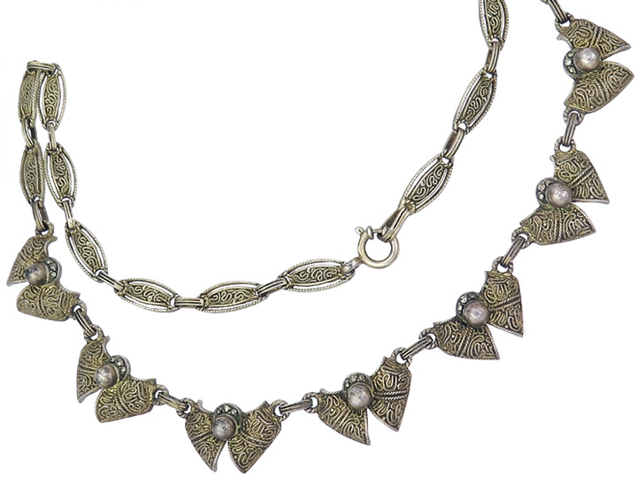 Theodor Fahrner Collier Marcasites 925 Silver