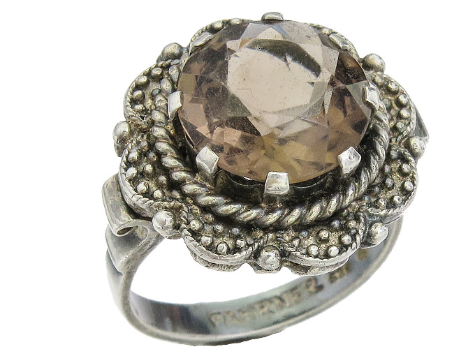 Theodor Fahrner Ring Colored Stone 925 Silver