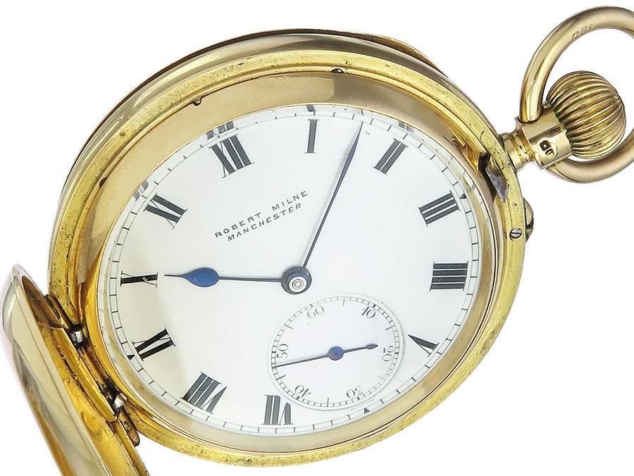 Pocket Watch Robert Milne Manschester Gold Hunter