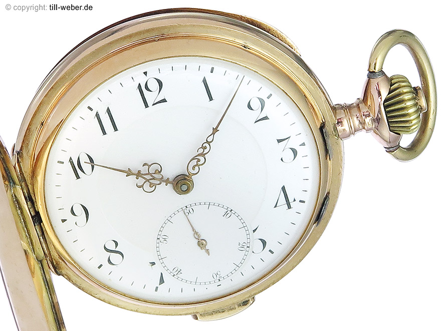 """Taschenuhr """"Repetition"""" Gold ca. 1920"""