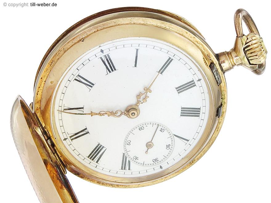 """Taschenuhr """"Gold"""" Savonette Medium um 1890"""