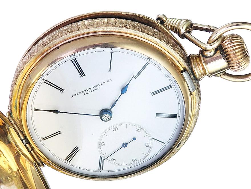 """Taschenuhr """"Rockford Watch Co. Illinois"""" um 1880-90"""