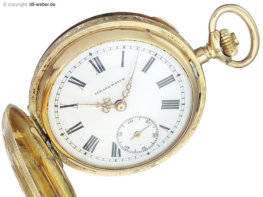 """Taschenuhr """"Seraph Watch"""" Gold ca. 1890-1900"""