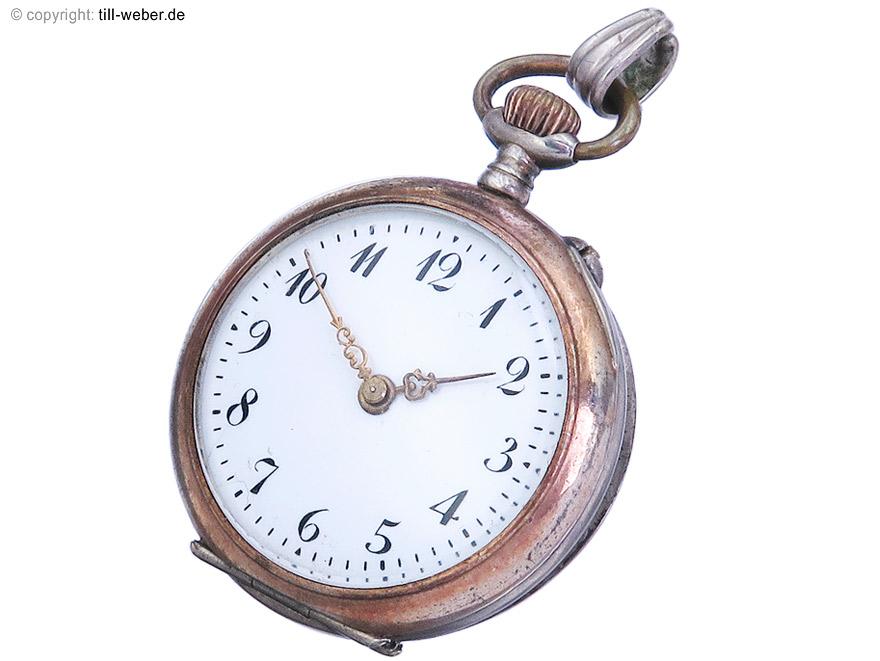 """Taschenuhr """"Silber"""" Damen um 1900 Antik"""