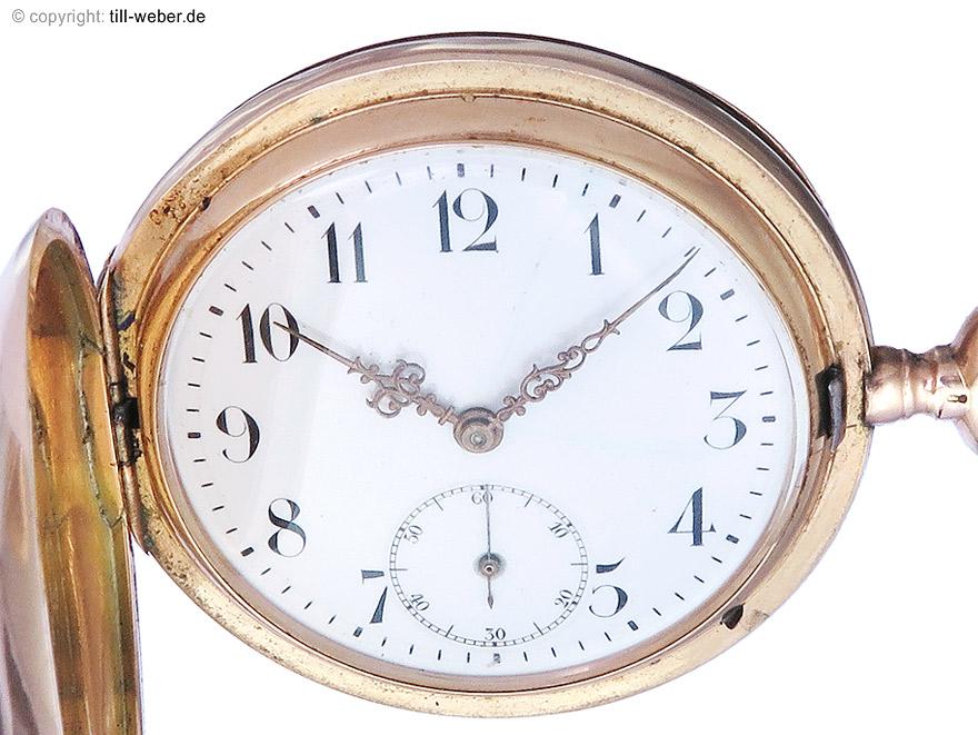 """IWC Taschenuhr """"Savonette"""" Gold ca. 1900-1910"""