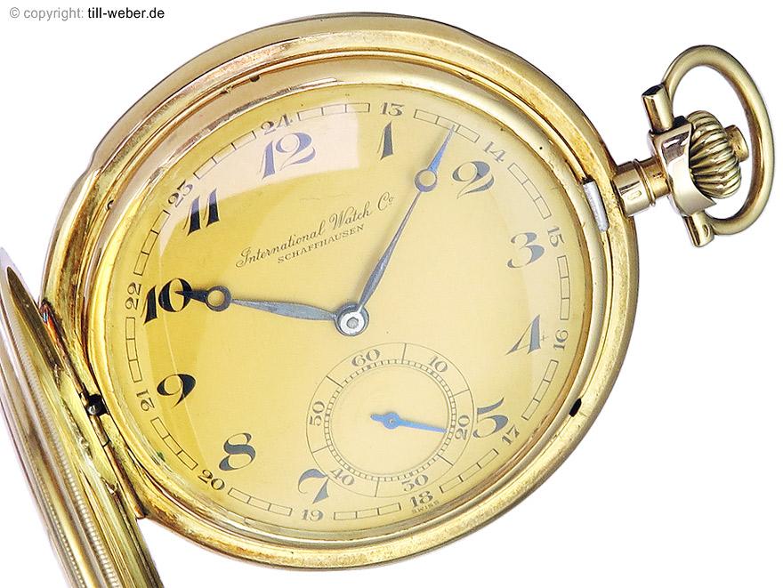 """IWC """"Sprungdeckeltaschenuhr"""" Gold ca. 1930"""