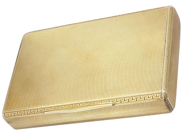 Visitenkarten Dose 585er Gelbgold