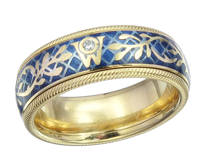 Wellendorff Ring  FORGET ME NOT 18 Karat Yellow Gold