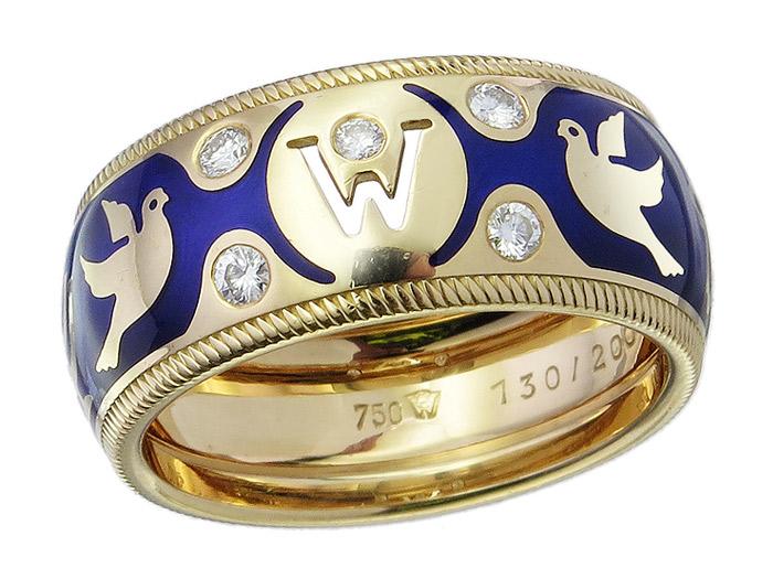 Wellendorff Jahresring 2000 Frieden 750er Gelbgold