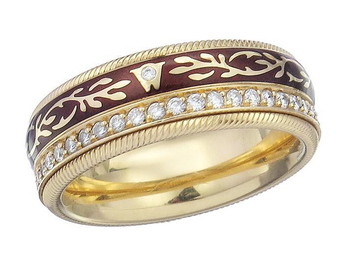 Wellendorff Ring FANTASIE MOCHA NOUGAT Diamonds 18 Karat Yellow Gold
